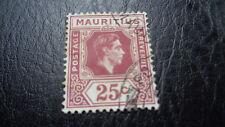 Sello de mauricio, 1938/1949, 25 cents, con sello