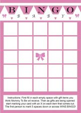 24 Baby Shower Bingo Cards - Girl