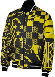 Nike Sportswear Printed Scorpion Jacket AR1632 741 LG XL Black & Yellow $160 NWT