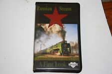 VHS VIDEO TAPE TITLED:  RUSSIAN STEAM, A FIRST LOOK   SHOWS SLIGHT USE