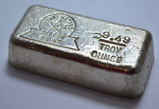 9.49 Troy Oz Rare OLD STAR METALS  .999 Fine Silver Poured Bar!