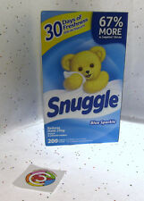 Snuggle Blue Sparkle Fabric Softener Dryer Sheets Fresh Release Snuggles 200ct