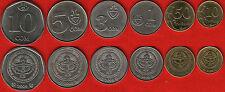Kyrgyzstan set of 6 coins: 10 tyiyn - 10 som 2008-2009 UNC
