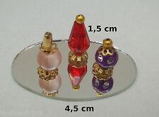 flacons de parfum sur miroir,miniature,maison de poupée,vitrine,parfumerie  *CL7