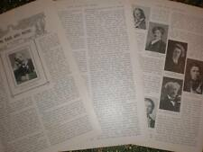 Article photos Long Hair and Music Frederic Cowen 1907