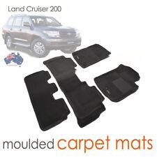 Suits Toyota Land Cruiser 200 series Black CARPET 3D Mats 2013 - 2019 VX Sahara