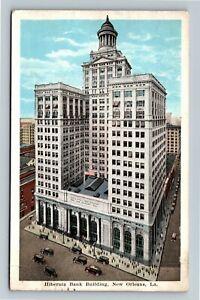 New Orleans LA-Louisiana Hibernia Bank Building, Tower, Vintage c1923 Postcard