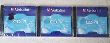 5 X Cd-r Recordable Verbatim Blank CDs 700mb