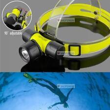 2500 Lumens Q5 LED 50m Waterproof Swimming Diving Headlamp Headlight FD