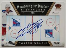 2011-12 Panini Crown Royale Wojtek Wolski Autograph Card
