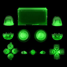 Full Glow in the Dark Buttons Cap Replacement Parts for Sony PS4 Controller Well