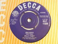 "BILLY FURY Jealousy Ex Decca 1961 UK 7"""
