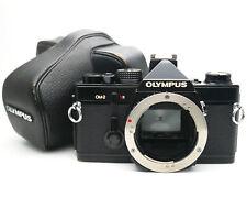 【Exc+5】OLYMPUS OM-2 SLR 35mm Film Camera Black Body, Leather case From JAPAN #05