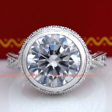 Genuine Heavy Solid 9ct White Gold Engagement Wedding Rings Simulated Diamonds