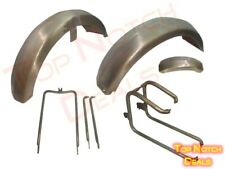 Norton Dominator Front And Rear Mudguards With Stay Kit Raw - Hand Made