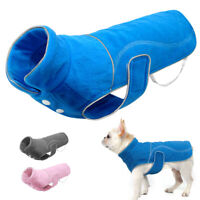 Reflective Large Dog Coat Warm Fleece Jacket Winter Vest Puppy Clothes Apparel