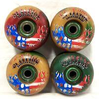 Vintage 1998 Spitfire American Made Skateboard Wheels USED Color Marbles Shortys