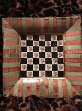 Mackenzie Childs Torquay Plate 12 x 12 Palm & Devon Pattern **Long Retired** NLA