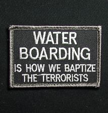 WATER BOARDING BAPTIZE TERRORIST TACTICAL USA ARMY SWAT OPS HOOK MORALE PATCH