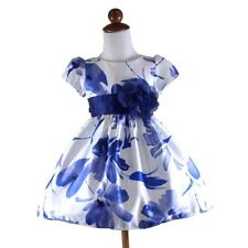 Cotton Blue Dresses for Girls