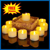 24PCS Warm White LED Tea Lights Candles Realistic Battery Flameless Tealights