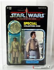 Vintage Star Wars Carded POTF 92 Back Lando (General Pilot) // AFA 80 Y-NM #1123