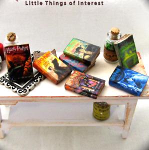 7 HARRY POTTER Miniature Books Dollhouse 1:12 Scale PROP Faux Books Magic