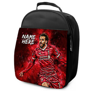 SALAH Lunch Bag Liverpool School Insulated Boys Football Personalised NL09