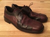 Mezlan Picasso Brown Leather Lace Up Oxfords Shoes Mens 11.5 M Two-Tone