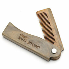 Natural Green Sandal wood Fold Comb Hair Comb For Men Beard Care Anti-static