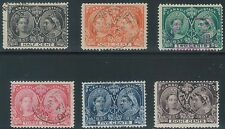 TMM* 1897 Canada Stamp S# 50-54,56 used/lt hinge/med cancel F/VF Jubilee issue