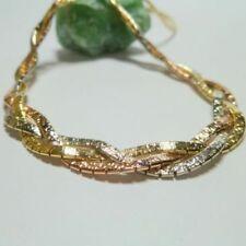Collar de joyería de metales preciosos sin piedras de oro amarillo no aplicable