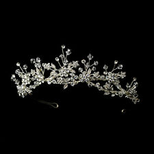 CLOSEOUT $ Austrian Crystal Wired Beaded Bridal Sweet 16 Tiara Crown Headpiece