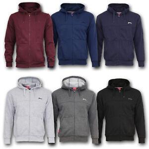Slazenger Kapuzen Jacke Pullover Sweatshirt Zip Hoody Pulli M L XL 2XL 3XL 4XL