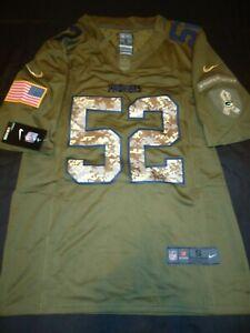 Green Bay Packers Clay Matthew Green Camo Salute Service Mens Small Nike Jersey