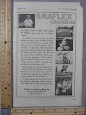 Rare Original VTG 1915 Kodak Graflex Camera Cosmopolitan Advertising Art Print
