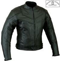 BATMAN STYLE PREMIUM QUALITY MENS CE ARMOUR MOTORBIKE MOTORCYCLE LEATHER JACKET