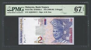 Malaysia 2 Ringgit ND(1996-99) P40a Uncirculated Graded 67