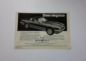 TWR Jaguar Sport XJ-S Advert from 1985 - Original Ad Advertisement XJS Cabriolet
