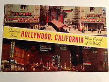 TWO COLLECTABLE-VINTAGE POST CARDS FROM HOLLYWOOD, CALIFORNIA- AROUND 1959-1963