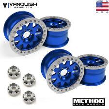 Vanquish VPS08004 Aluminum Method Race 2.2 101 Beadlock Wheels Blue/Silver (4)