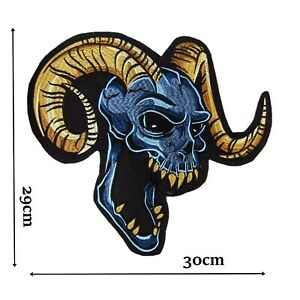 Blue Demon Large Iron On Patch Quality Back Patches Badge 30 cm x 29 cm P549