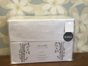 NIP Peacock Alley KING 100% Rayon From Bamboo Sheet Set, White New