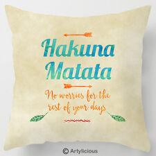 Hakuna Matata lion king quote cushion / pillow