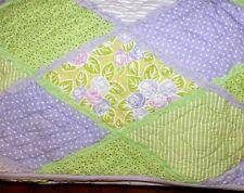 Queen Quilt Lavender Argyle Pattern Company Kids New