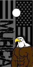 American Eagle Flag Laminated Cornhole Wrap Bag Toss Skin Decal