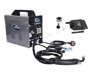 SwitZer 120Amp Portable Gasless Welder Welding Machine With Kit Mask MIG130 Grey