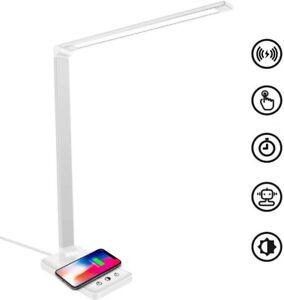 LED Tischlampe Schreibtisch-lampe Dimmbar Touch Nachttischlampe wireless USB