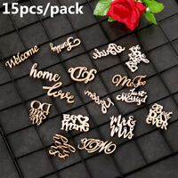 15pcs Rustic Wooden Family Love Wedding Table Scatter Decoration DIY Wood Crafts