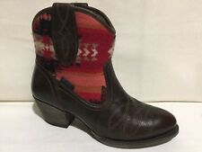 ARIAT 10016318 PENDLETON BROWN LEATHER SLIP ON ANKLE BOOTS WOMENS SZ 6.5 B